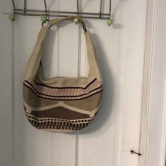 American Eagle Outfitters Handbags - Canvas bag with Navaho type pattern w/brass rings